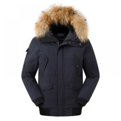 Blouson Helvetica Anchorage Men Raccoon Edition Navy